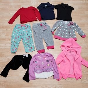Girls size 4T winter clothing bundle of 9 items